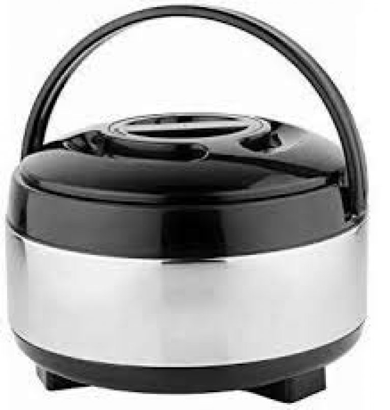 JSI Chapati Pot Double Wall Insulated Stainless Steel Serve Fresh Roti Casserole with Lid, 1.5 L, 1 pc
