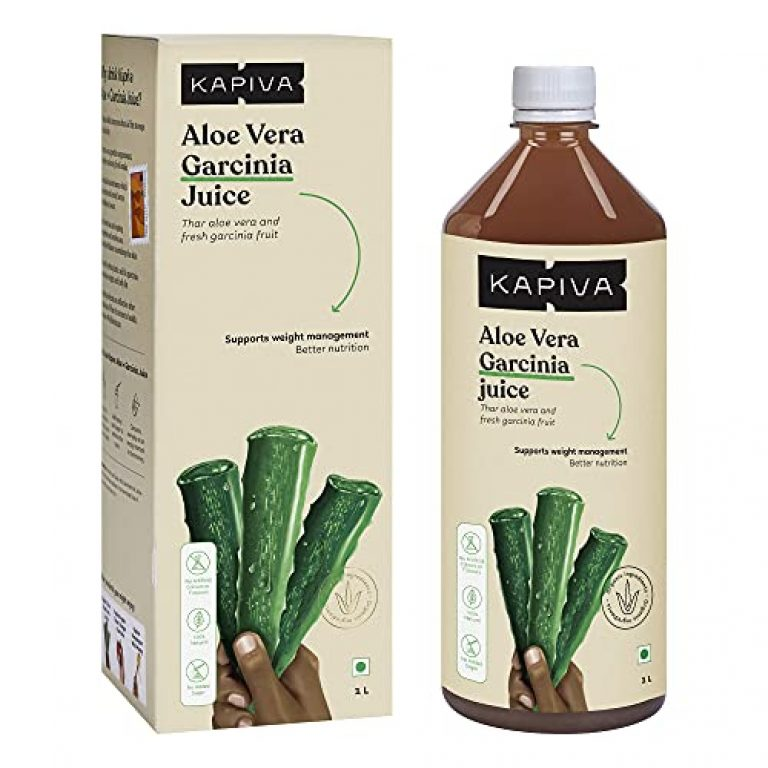 Kapiva Aloe Vera + Garcinia Juice (1L) – Helps in Weight Management and Detoxification | Aids Skin and Hair Nourishment | No Added Sugar