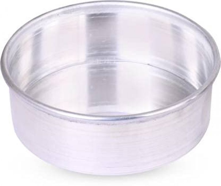Kitchenzones Aluminium Set of 4 inches Diameter and 2.25 inches Height of Round Cake Mould for ovens and Microwave (Set of 1 Piece)