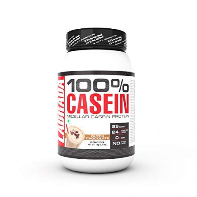 Labrada 100% CASEIN Micellar Casein Protein (24g Slow-Release Protein, 0g Sugar, No Artificial Colors, 29 Servings) – 2.2 lbs (1kg) (Dutch Chocolate)