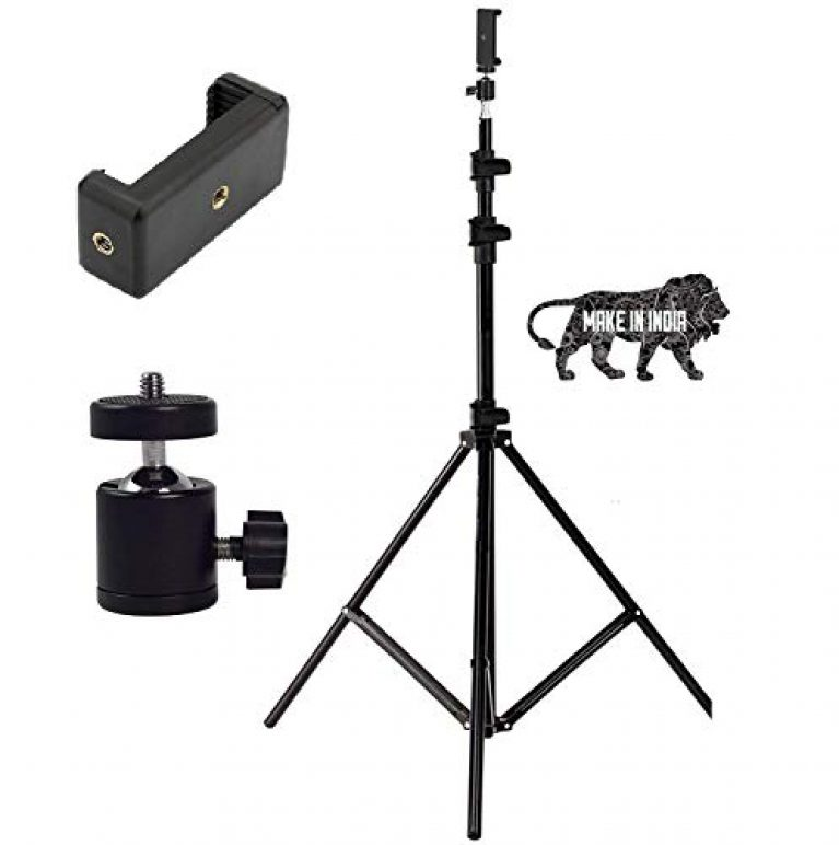 MOBILITO Tripod Kit with 7 Ft Light Stand, Mobile Holder & Mini Ball Head for Indoor, Outdoor and Travel Photo Video Shoots
