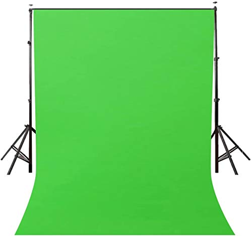 Maccraft Backdrop Reflector Photo Light Studio Wrinkle Resistant LEKERA Photography Background Finishing Curtain Cloth for Photo Shoot Portrait Video Shooting 8×12 ft with Carry Bag (Green)