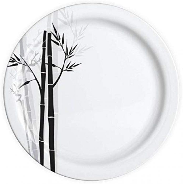 Melamine bambo Grass Serving Half Plate Set of 6