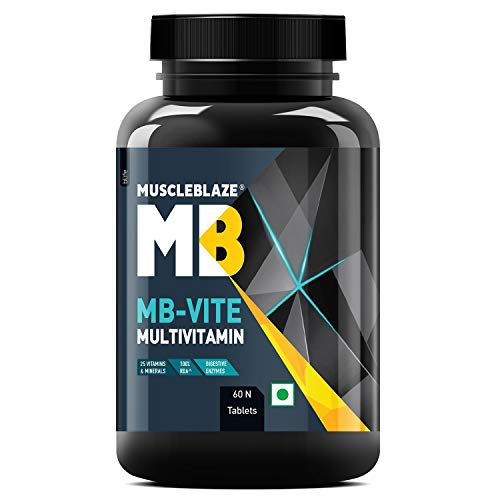 MuscleBlaze MB- Vite Multivitamin with Immunity Boosters-100% RDA Vitamin C, D, Zinc, 60 tablets