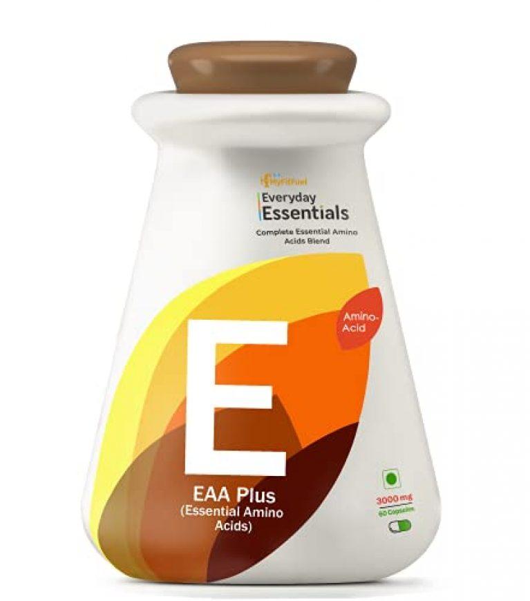 MyFitFuel EAA Plus Essential Amino Acids (1000 mg) -60 Capsules
