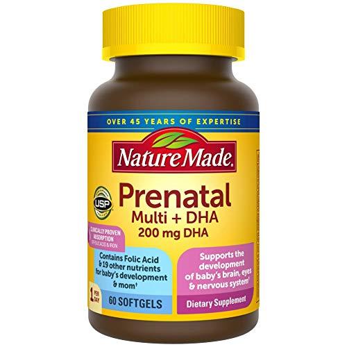 Nature Made Prenatal Plus Dha Softgels – 60 Softgel