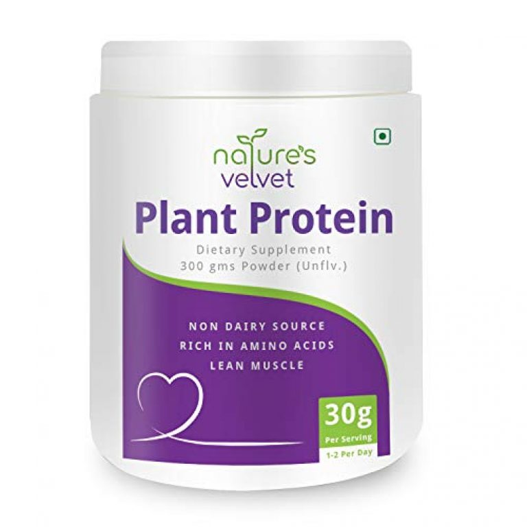 Nature's Velvet Plant Protein, Rich in BCAAs, 300gms -Pack of 1