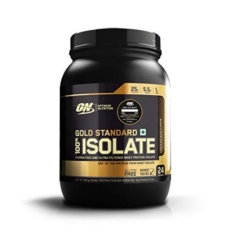 Optimum Nutrition (ON) Gold Standard 100% Isolate Whey Protein Powder – 1.6 lb, 24 servings (Chocolate Bliss)