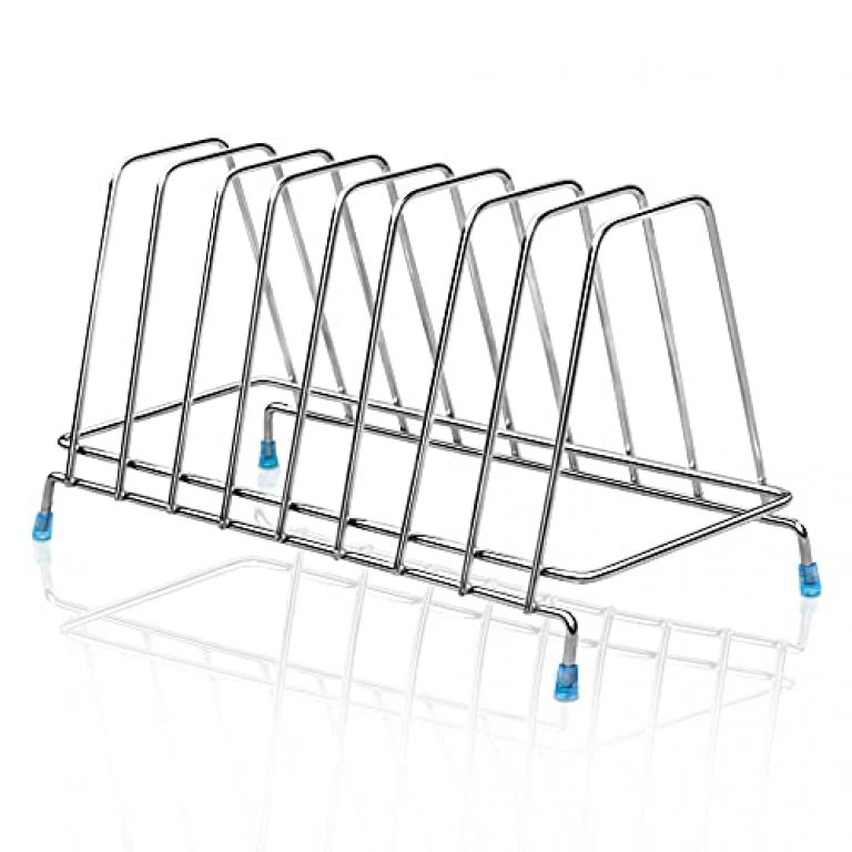 Plantex Premium Stainless Steel Plate Stand-Rack/Dish Stand-Rack/Dish Stand/Utensil Rack(Chrome-Silver)