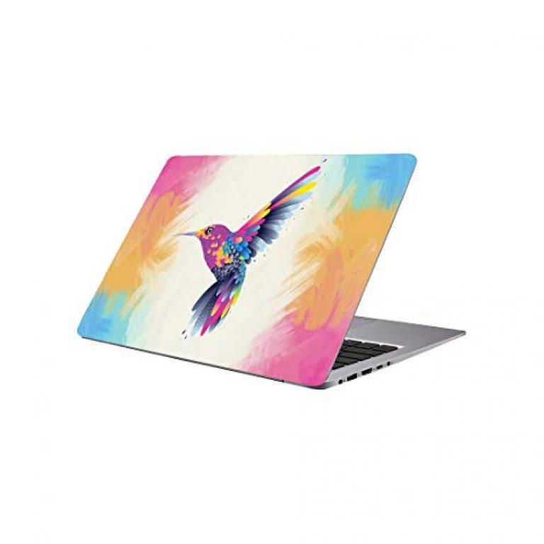 Printart Humming Bird Wallpaper Sticker Decals Vinyl for Laptop Skin PVC Vinyl 17 Inch
