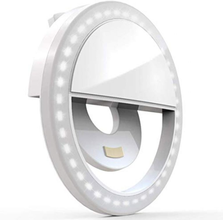 Probeatz Rechargeable Night LED Ring Selfie Flash Light Selfie Enhancing Ring Light with 3 Level of Brightness for Photography Video Calling (Smart Phones Laptop Tablet) 36 LED
