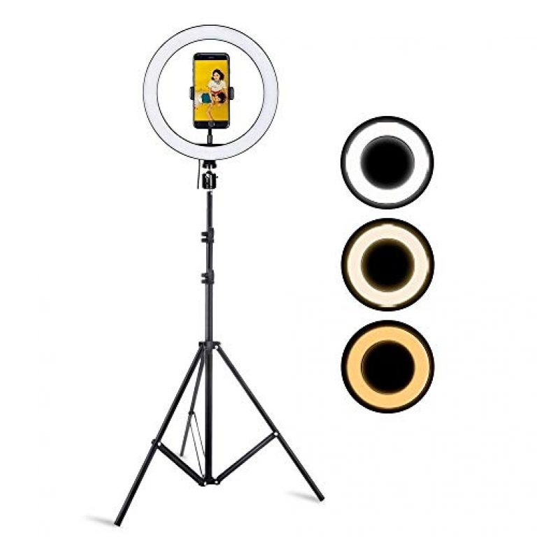 Professional 12″ inch LED Ring Light with Tripod Stand for Mobile Phones & Camera | 3 Color Modes Dimmable Lighting | for YouTube | Photo-Shoot | Video Shoot | Live Stream | Makeup & Vlogging