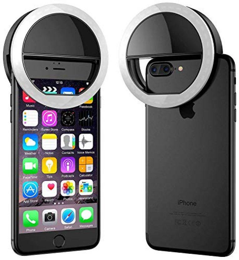 SHOPAIS Rechargeable Night LED Selfie Flash Light for Smartphones(Multicolour)
