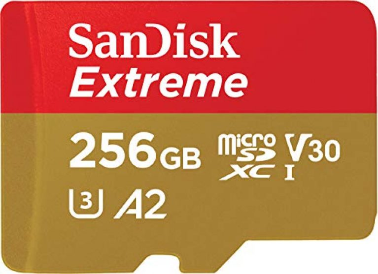 SanDisk Extreme microSD Card for Mobile Gaming, 4K Video, 160MB/s R/90MB/s 256GB, SDSQXA1-256G-GN6GN