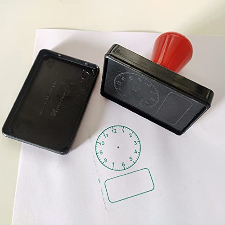 Shilp Creations Clock face self-inking stamp – Analog and Digital clock – Telling time – Teaching aid – Learning resources