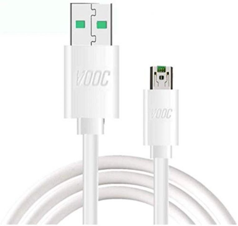 Sounce Flash/Super VOOC Micro USB 7 Pin Data Sync Fast Charging Cable Compatible for Oppo Reno/Oppo F9 PRo/ F11 pro Upto 4Amp for All Oppo Smartphones