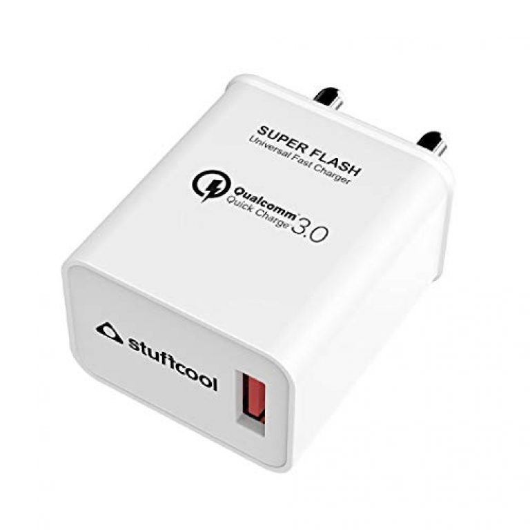 Stuffcool Super Flash 18W Qualcomm QC 3.0 Quick Charge USB Universal Compatible Wall Super-Fast, Dash, AFC Charger/Adapter Compatible with All iOS & Android Devices – White