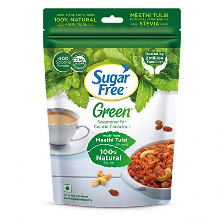 Sugar Free Green Stevia Powder (Made from Natural Stevia) – 400 g, Pouch