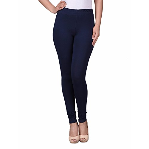 TRASA Ultra Soft Cotton Churidar Solid Regular and Plus 35 Colours Leggings for Womens and Girls- Sizes :- M, L, XL, 2XL, 3XL, 4XL, 5XL, 6XL