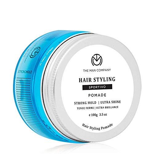The Man Company Sportivo Stronghold Hair Styling Pomade Wax for Men | Stylish Glossy Finish with Volume | Non Sticky – 100gm