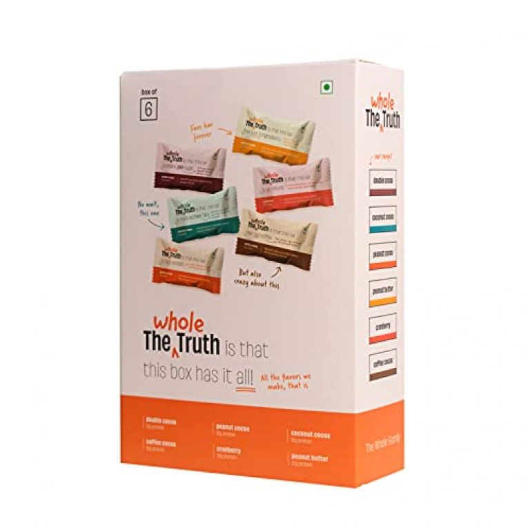 The Whole Truth – Protein Bars – All-In-One – Pack of 6 (6 x 52g) – No Added Sugar – All Natural