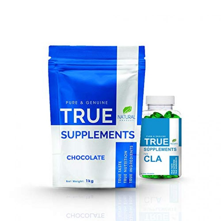 True Supplements Pure Micellar Casein Protein 82% | 4.3gm Glutamine per serving | Slow digesting Anti-catabolic protein for muscle Growth & Recovery – Free CLA | 33 servings 1kg (Chocolate)
