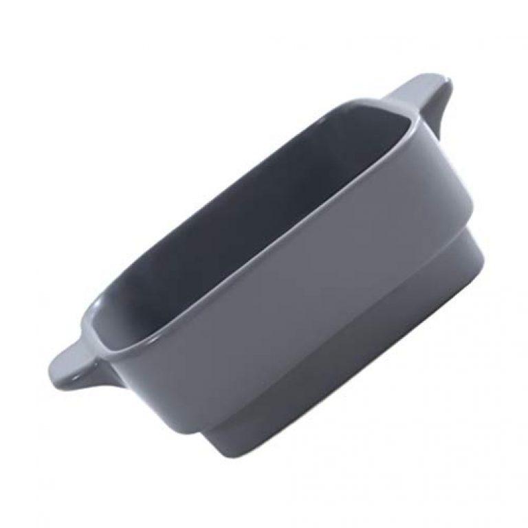 UPKOCH Ceramic Ramekins Soup Dessert Bowls Ceramic Ramekin Sauce Baking Tray Pudding Cup Food Salad Fruit Plate Serving Bowls Grey