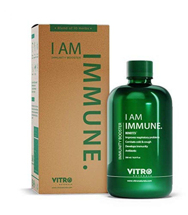 Vitro immunity booster Juice | No added sugar | Giloy Tulsi+ Juice | I AM IMMUNE, 500ml | Natural Immune Booster Formula, FREE Amla candy inside