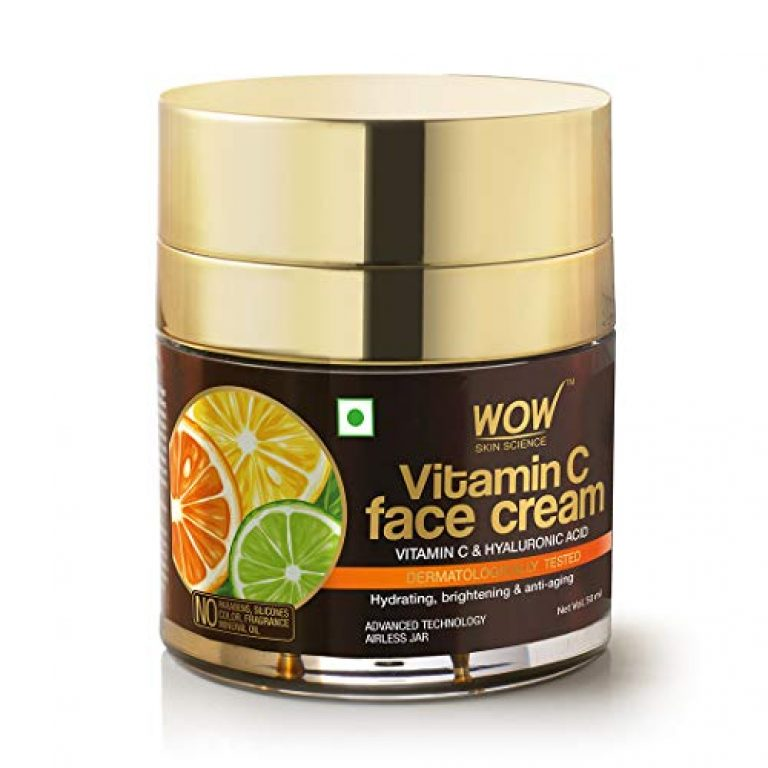 WOW Skin Science Vitamin C Face Cream – Oil Free, Quick Absorbing – For All Skin Types – No Parabens, Silicones, Color, Mineral Oil & Synthetic Fragrance, 50 ml
