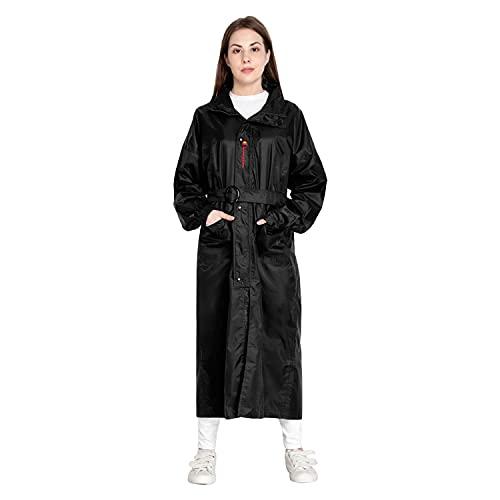XODI Waterproof Rain Suit / Rain Coat / Rain Wear/(Suitable For Women) (Black) (XXL)