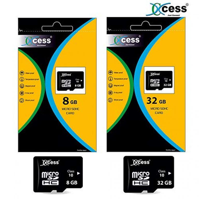 Xccess Class 10 Micro SD Memory Card (Black) (8GB+32GB)