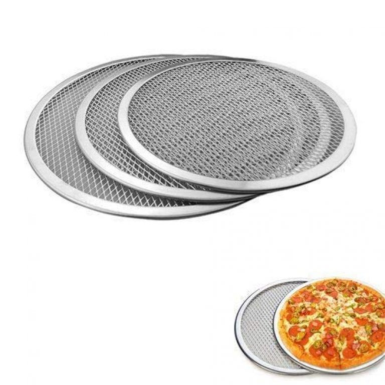 ZenShop Aluminium Pizza Plate – Set of 3, Silver