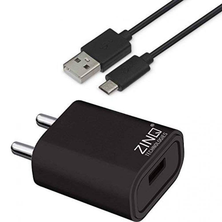 Zinq Technologies 2A Single Port Mobile Charger with 1Mtr USB Cable Included (Black)