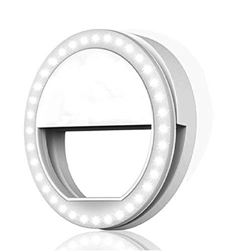 generic Mirror Soft White Colour TIK Tok Selfie Ring Light with 3 Level and 36 LED for Tablet, iPhone, iPad, Smart Phones, Laptop, Camera Photography, Video Photo Shoot Flash.(Random Color)