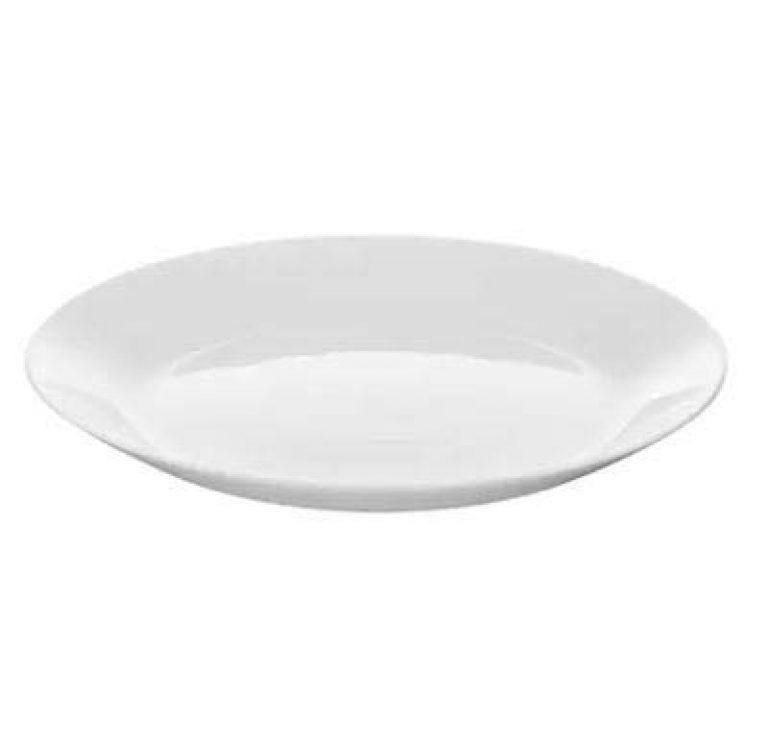 "ledieu™ IKEA OFTAST Side Plate, White 19 cm (7 ½ ""), ( Pack of 2 PC ) , Tempered Opal Glass"