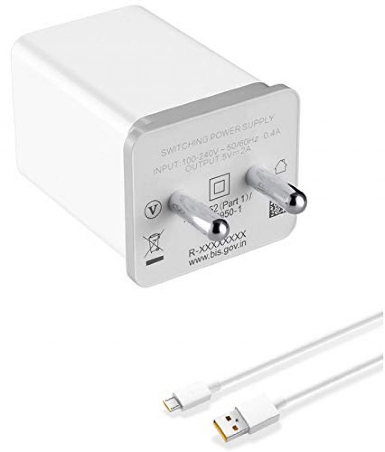 quick charge for Realme 5 Charger Original Adapter Like Mobile Charger | Power Adapter | Wall Charger | Fast Charger | Android Smartphone Charger | With 1 Meter Micro USB Cable Charging Cable Data Cable (2.4 Amp,CC-OPPO, WHITE)