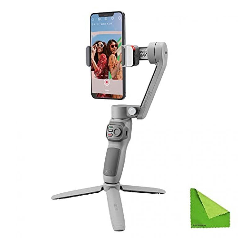 zhi yun Smooth-Q3 Gimbal Stabilizer for Smartphone Android Cell Phone iPhone Foldable 3-Axis Handheld Gimble Stick with Tripod Stand LED Fill Light for Tiktok, YouTube Vlog
